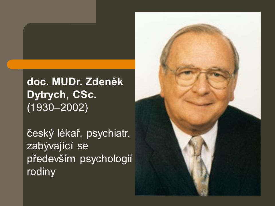 doc. MUDr. Zdeněk Dytrych, CSc. (1930–2002)