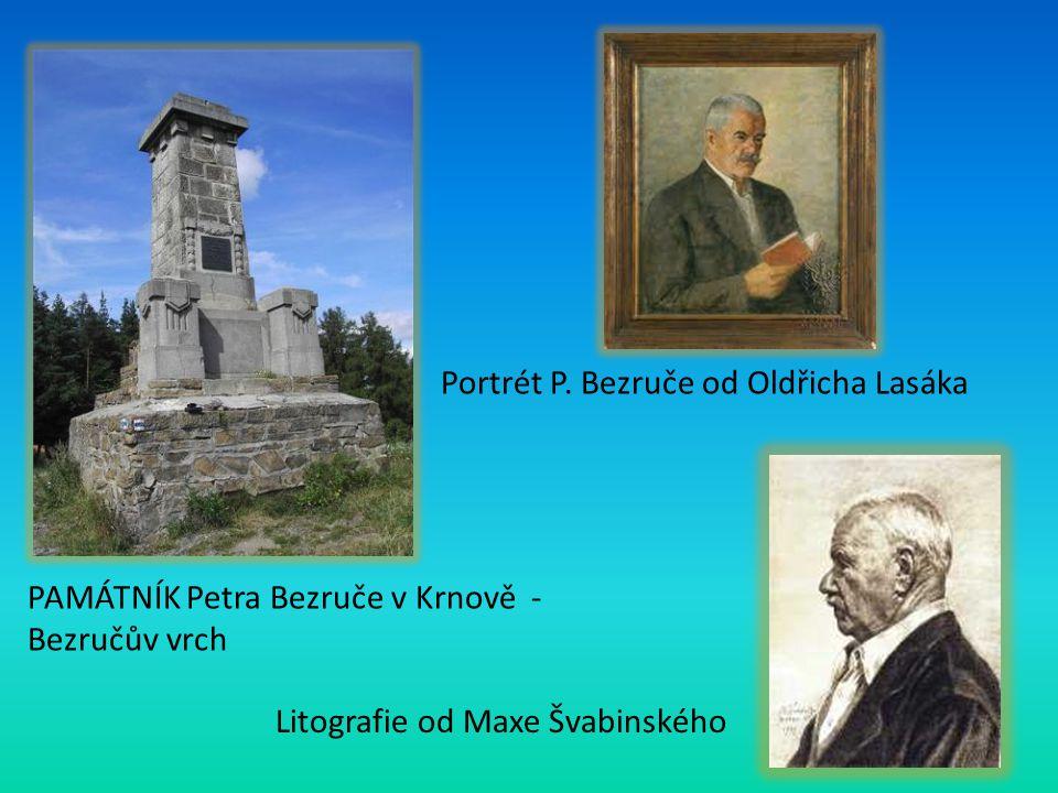 Portrét P. Bezruče od Oldřicha Lasáka
