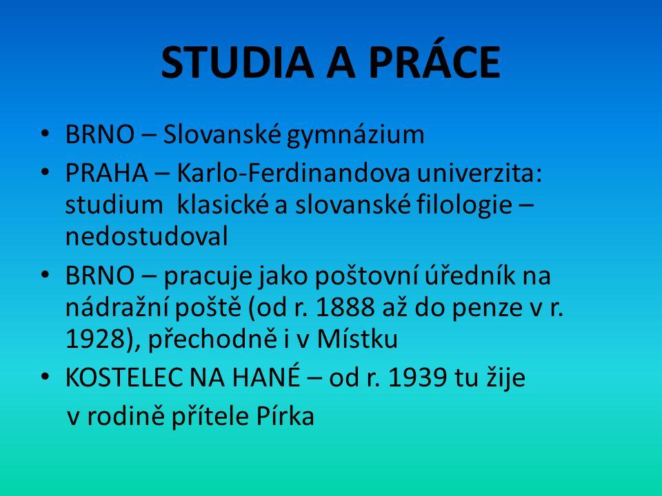 STUDIA A PRÁCE BRNO – Slovanské gymnázium