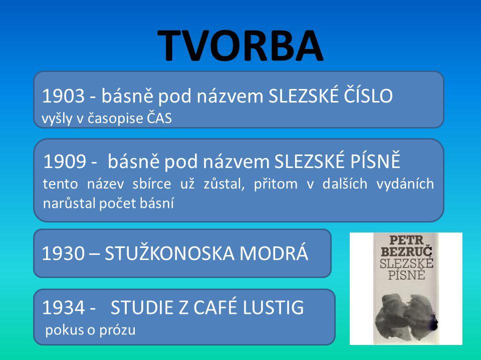 TVORBA 1903 - básně pod názvem SLEZSKÉ ČÍSLO
