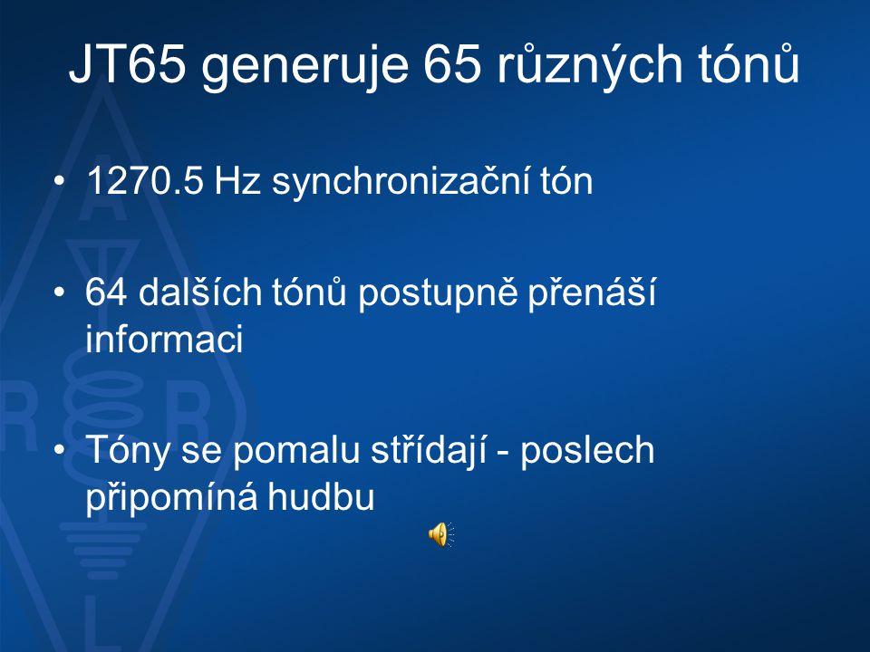 JT65 generuje 65 různých tónů