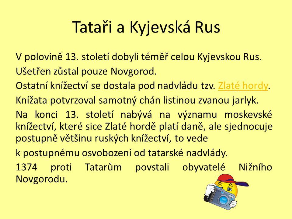 Tataři a Kyjevská Rus