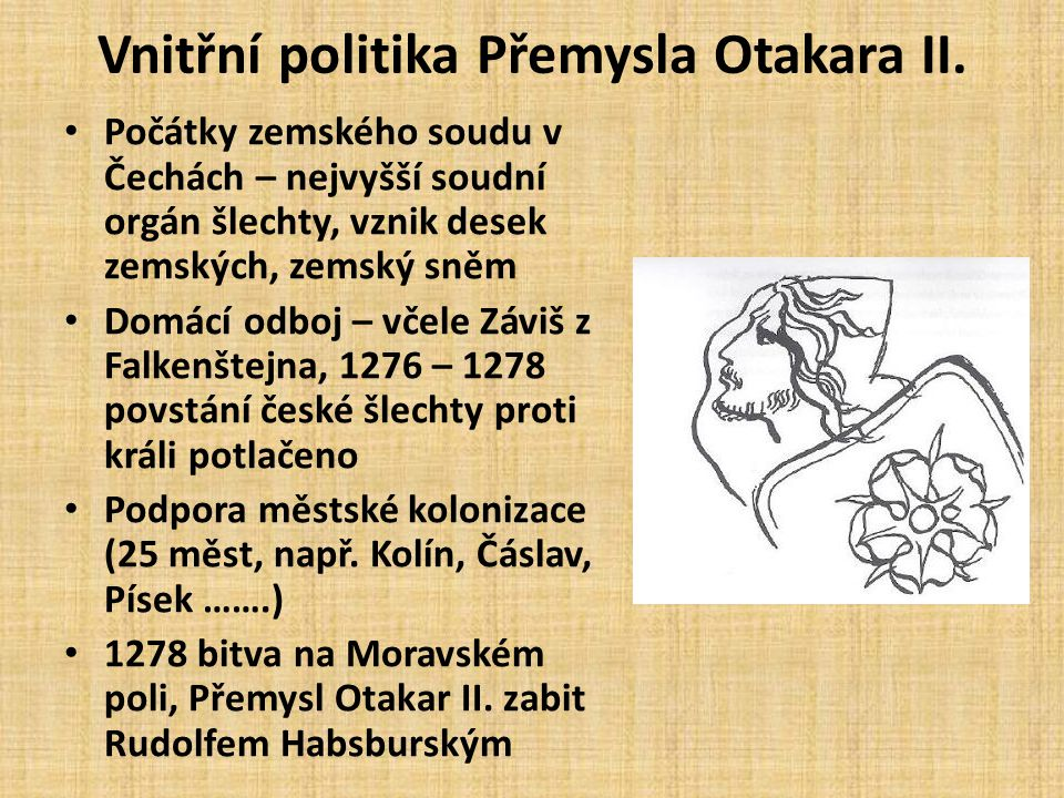 Vnitřní politika Přemysla Otakara II.