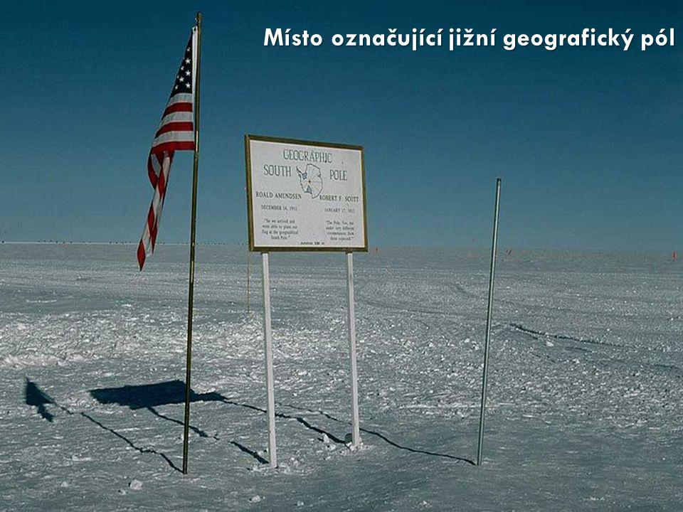 Místo označující jižní geografický pól