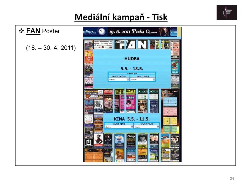 Mediální kampaň - Tisk FAN Poster (18. – 30. 4. 2011)