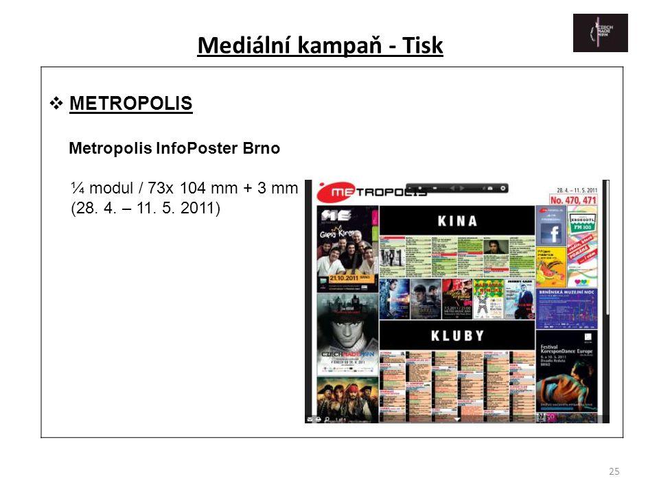 Mediální kampaň - Tisk METROPOLIS Metropolis InfoPoster Brno