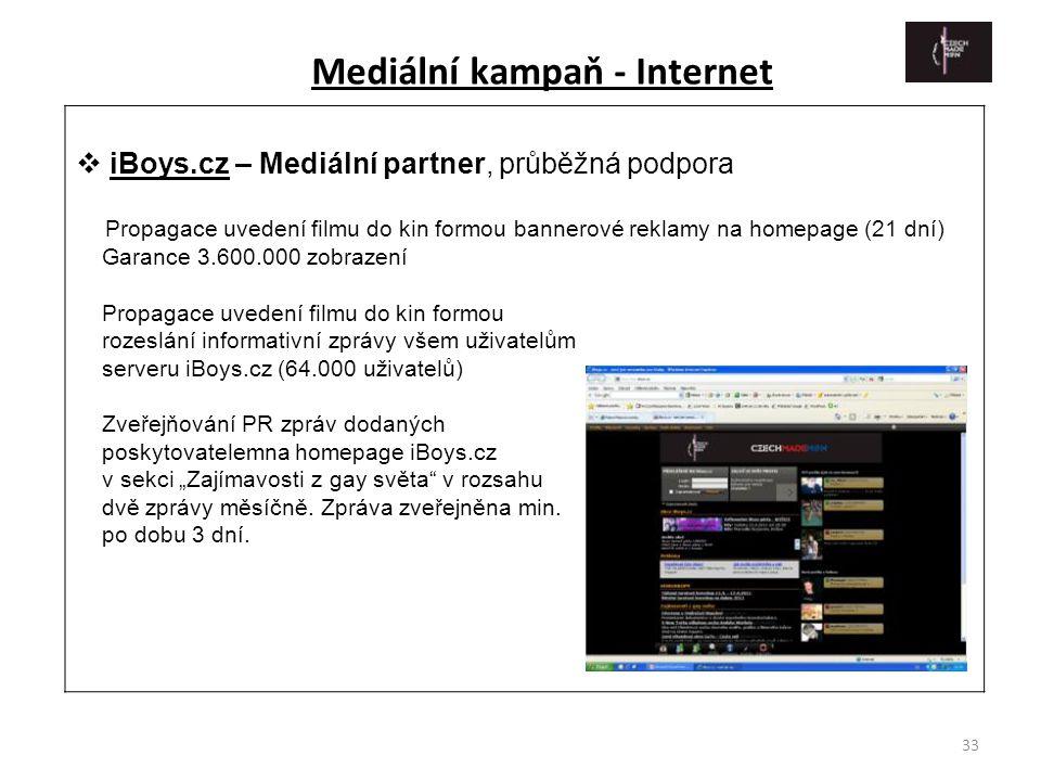 Mediální kampaň - Internet