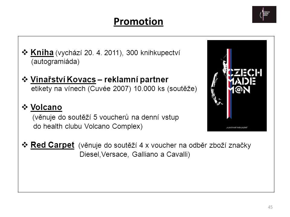 Promotion Kniha (vychází 20. 4. 2011), 300 knihkupectví