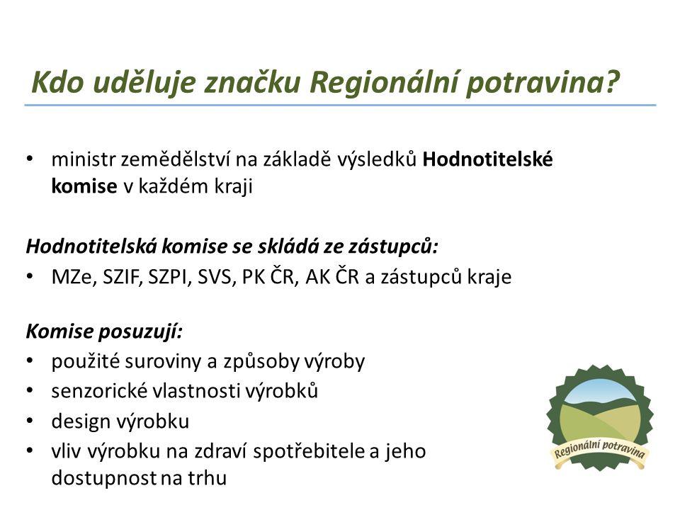Kdo uděluje značku Regionální potravina
