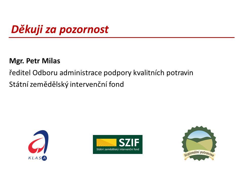 Děkuji za pozornost Mgr. Petr Milas
