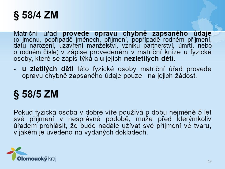 § 58/4 ZM