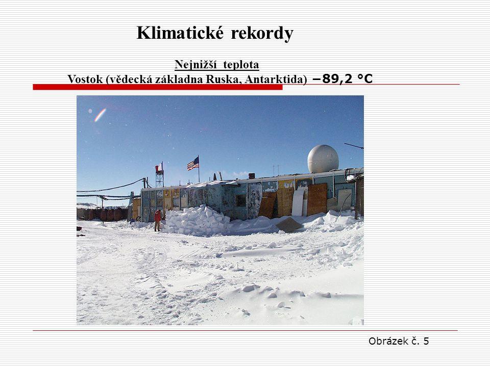 Vostok (vědecká základna Ruska, Antarktida) −89,2 °C