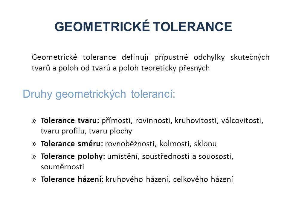 GEOMETRICKÉ TOLERANCE