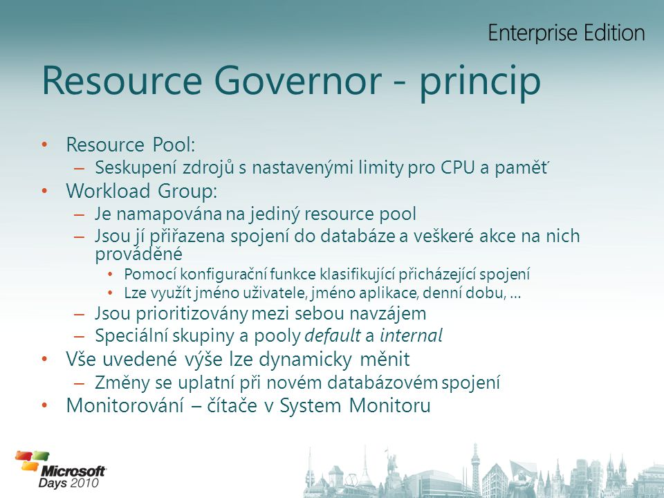 Resource Governor - princip