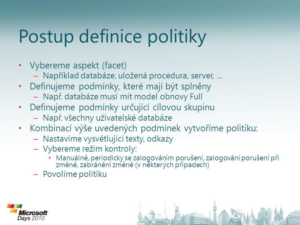 Postup definice politiky