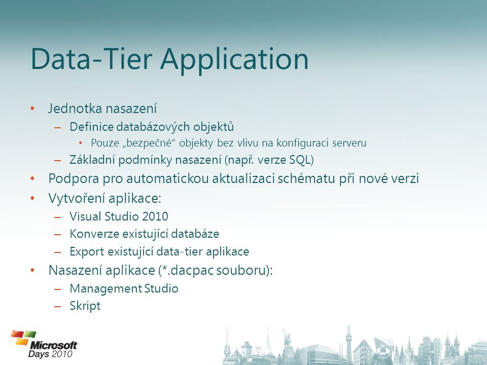 Data-Tier Application