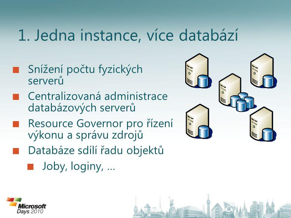 1. Jedna instance, více databází