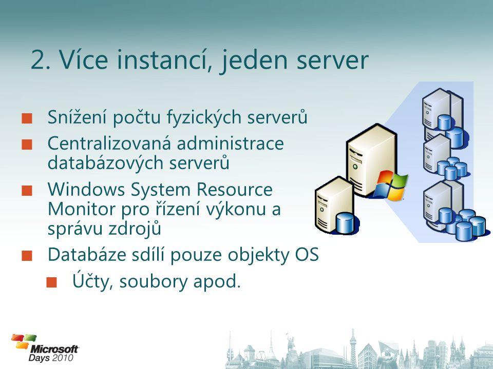 2. Více instancí, jeden server