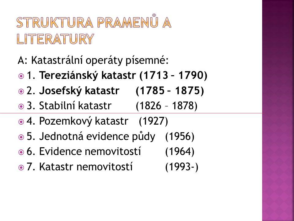 Struktura pramenů a literatury