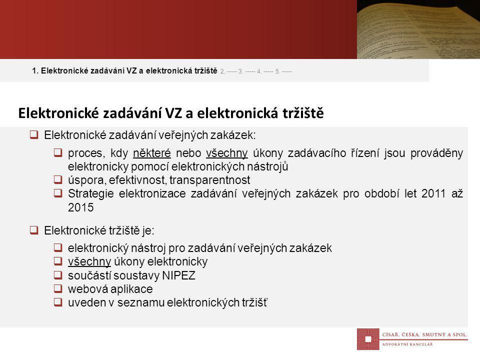 Elektronické zadávání VZ a elektronická tržiště