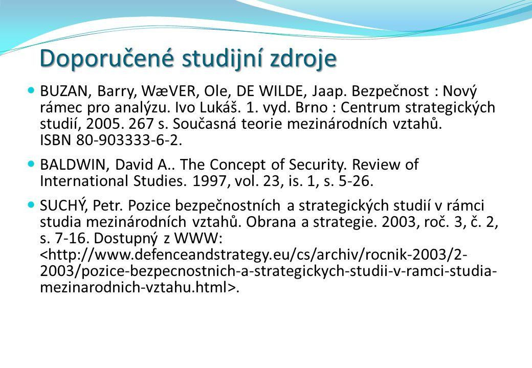 Doporučené studijní zdroje