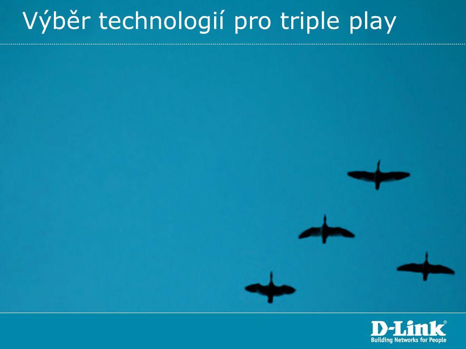 Výběr technologií pro triple play