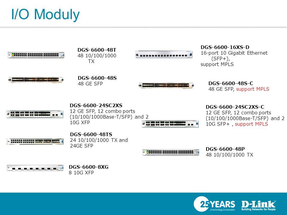 I/O Moduly DGS-6600-16XS-D 16-port 10 Gigabit Ethernet (SFP+),