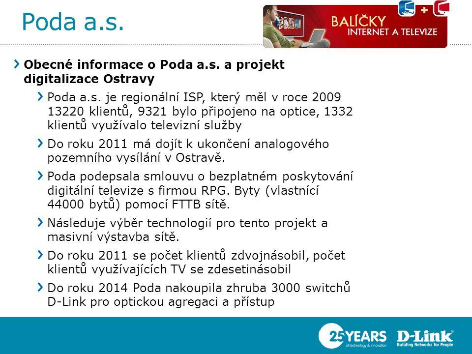 Poda a.s. Obecné informace o Poda a.s. a projekt digitalizace Ostravy