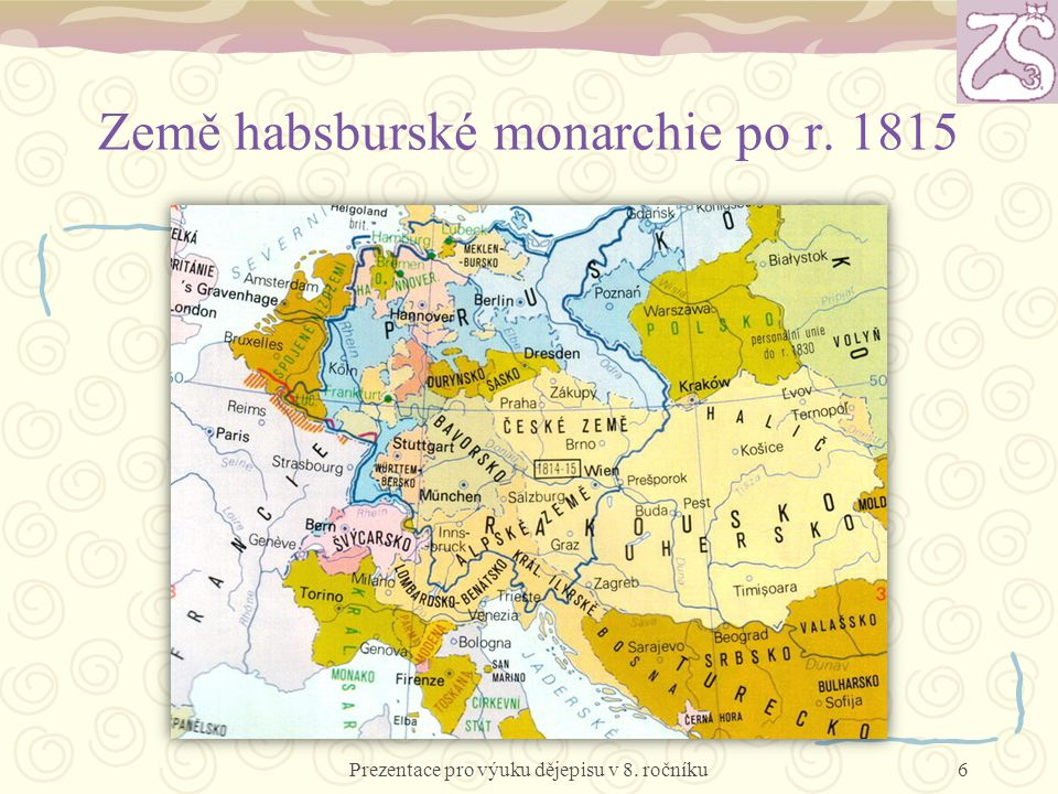 Země habsburské monarchie po r. 1815