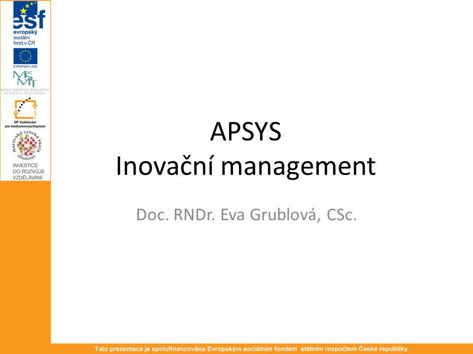 APSYS Inovační management