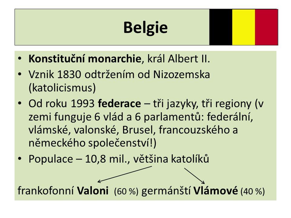 Belgie Konstituční monarchie, král Albert II.