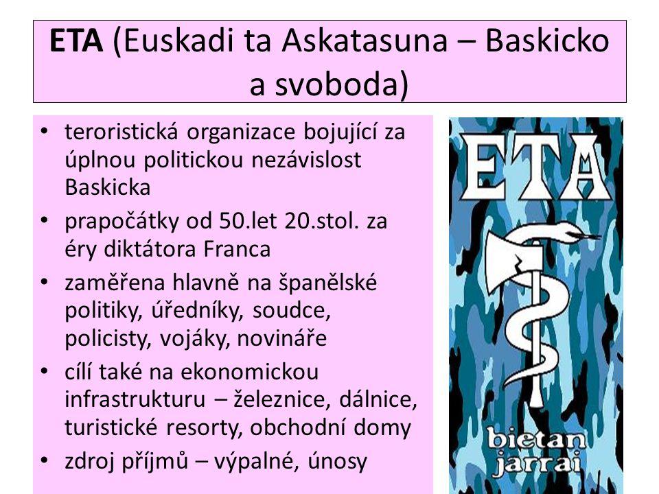 ETA (Euskadi ta Askatasuna – Baskicko a svoboda)