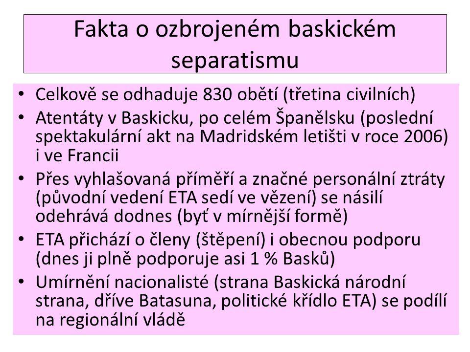 Fakta o ozbrojeném baskickém separatismu