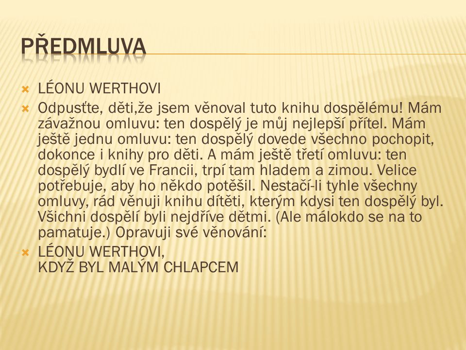 Předmluva LÉONU WERTHOVI