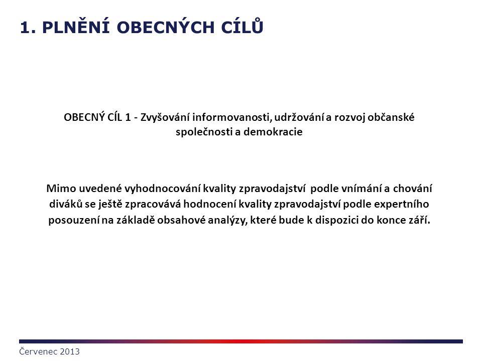 1. PLNĚNÍ OBECNÝCH CÍLŮ OBECNÝ CÍL 1 - Zvyšování informovanosti, udržování a rozvoj občanské společnosti a demokracie.