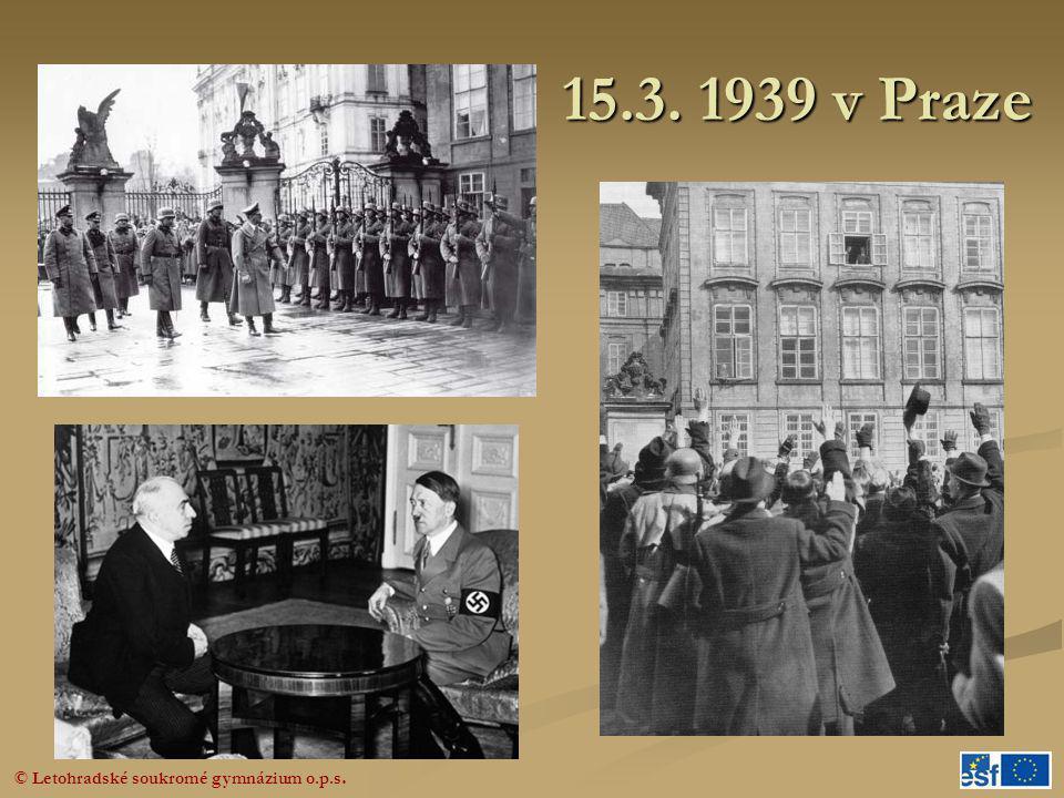 15.3. 1939 v Praze