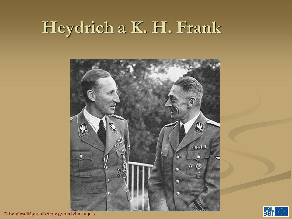Heydrich a K. H. Frank