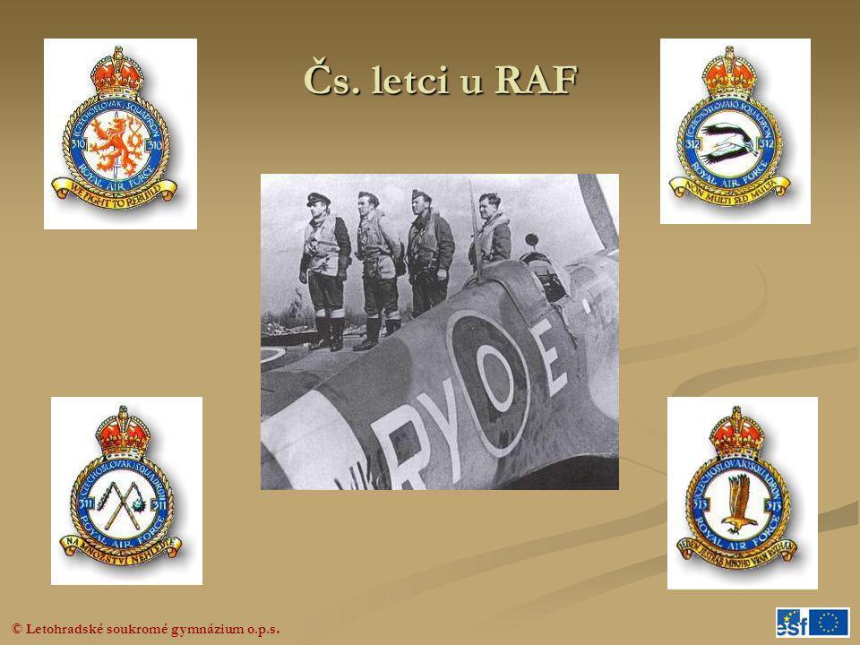 Čs. letci u RAF