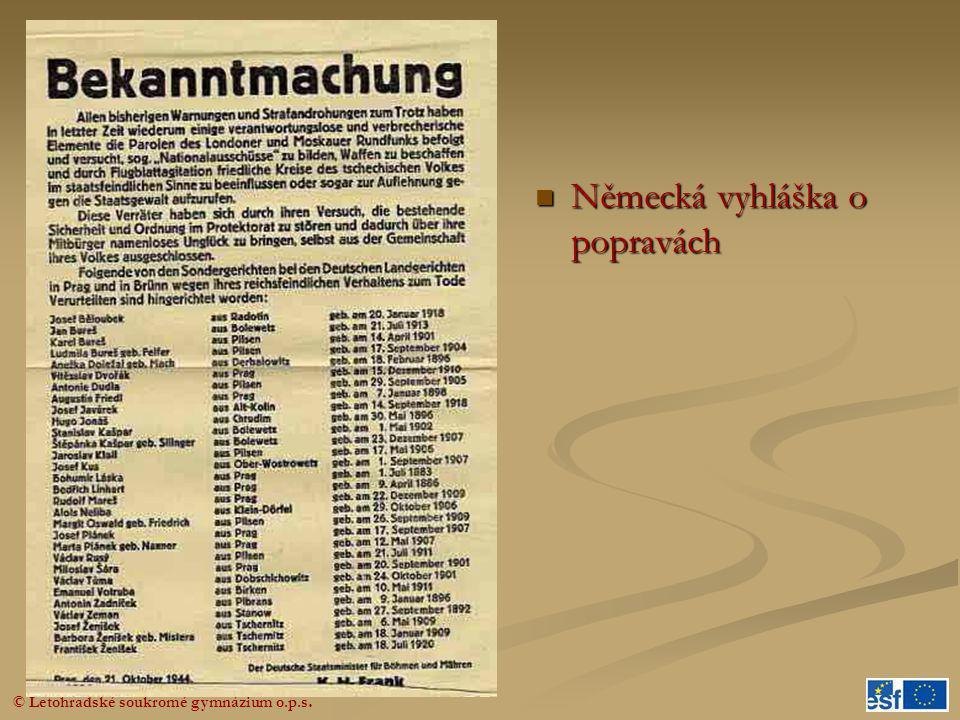 Německá vyhláška o popravách