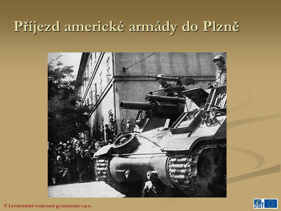 Příjezd americké armády do Plzně