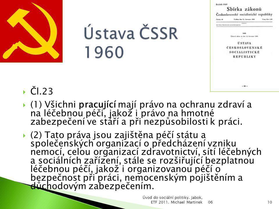Ústava ČSSR 1960 Čl.23.