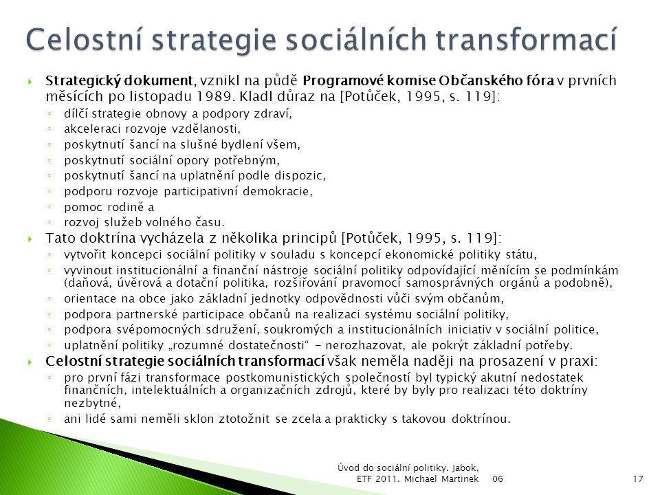 Celostní strategie sociálních transformací