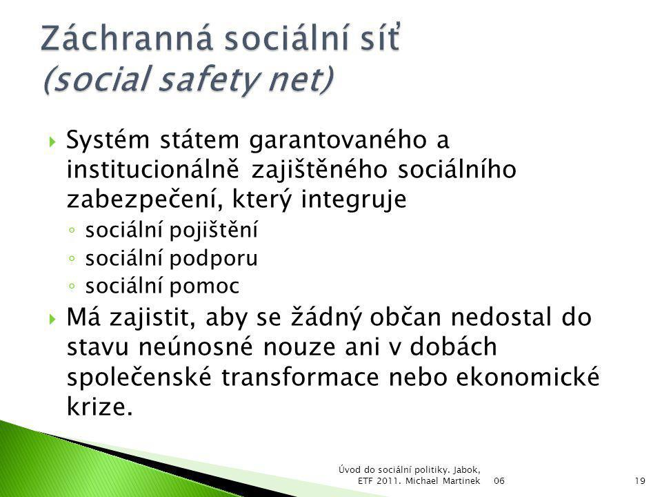 Záchranná sociální síť (social safety net)