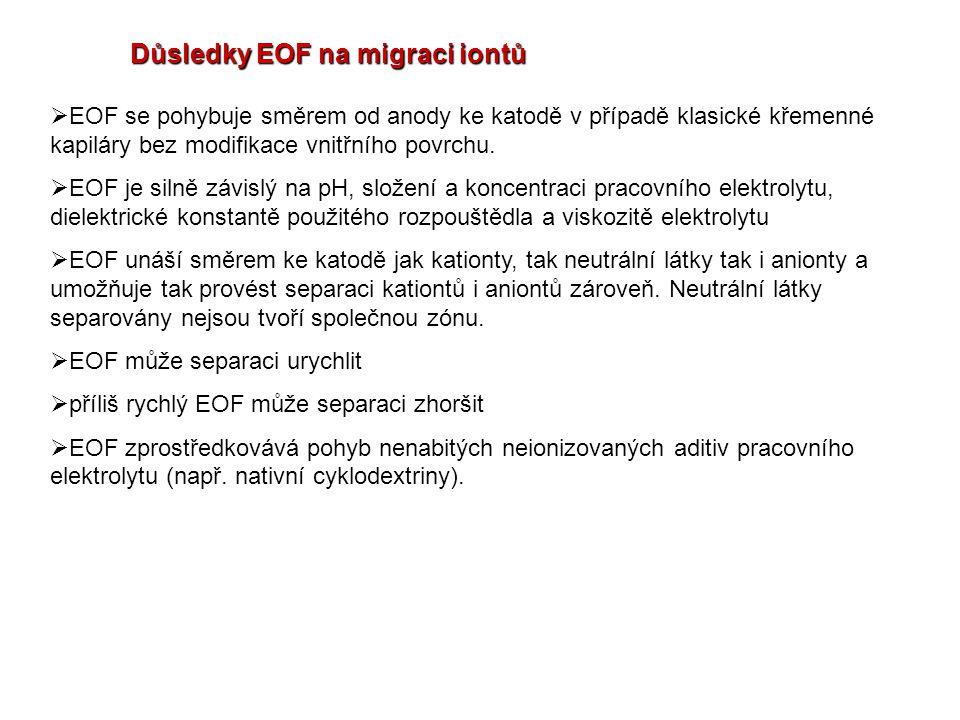 Důsledky EOF na migraci iontů