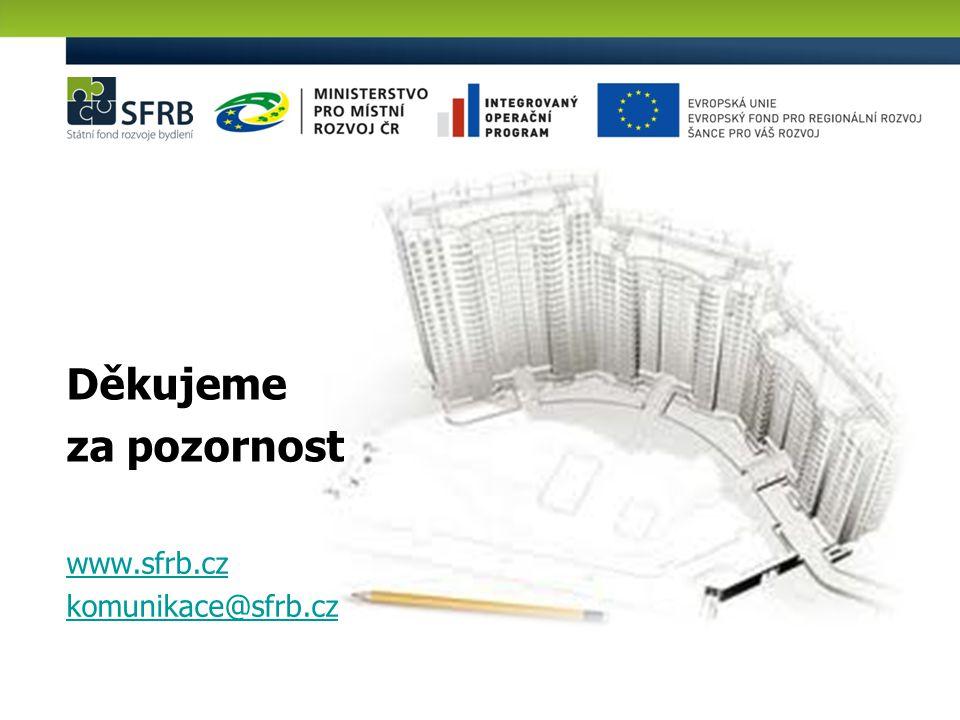Děkujeme za pozornost www.sfrb.cz komunikace@sfrb.cz