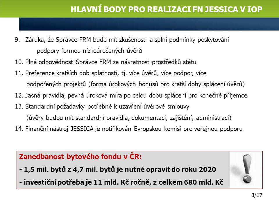 Hlavní body pro realizaci fn jessica V IOP