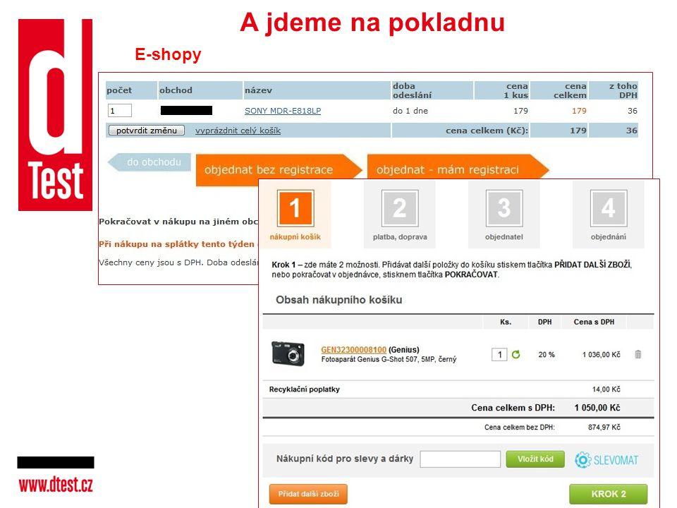 A jdeme na pokladnu E-shopy