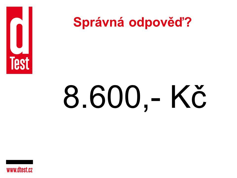 Správná odpověď 8.600,- Kč