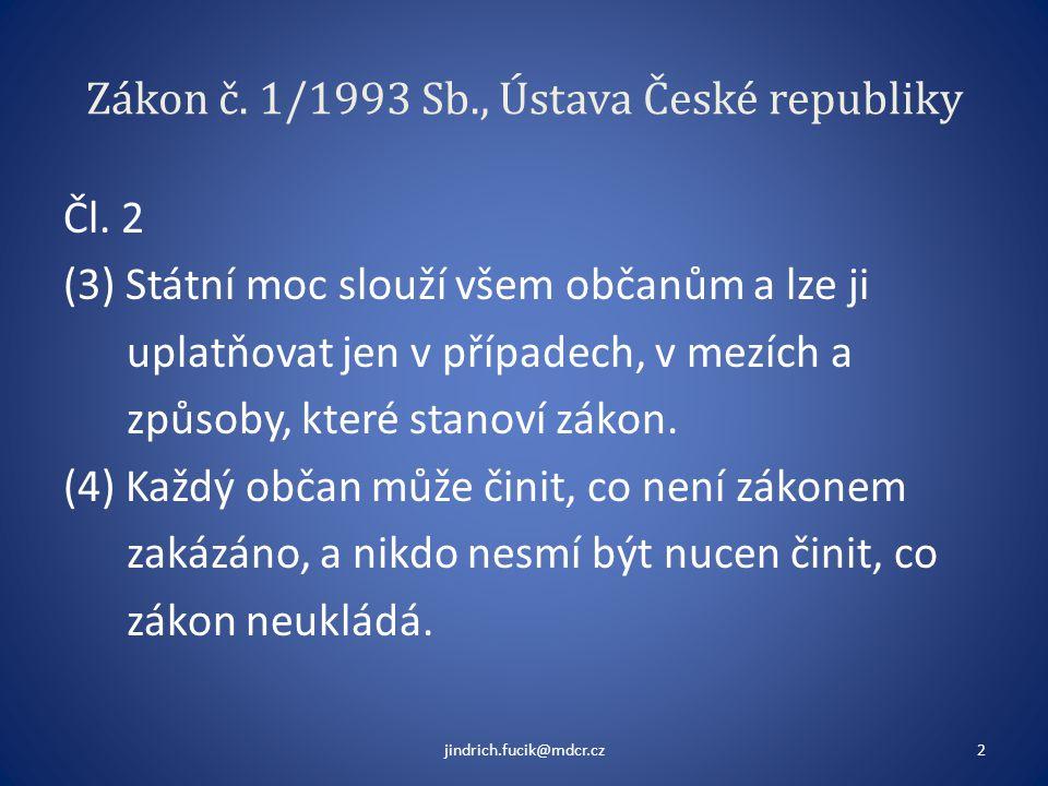 Zákon č. 1/1993 Sb., Ústava České republiky