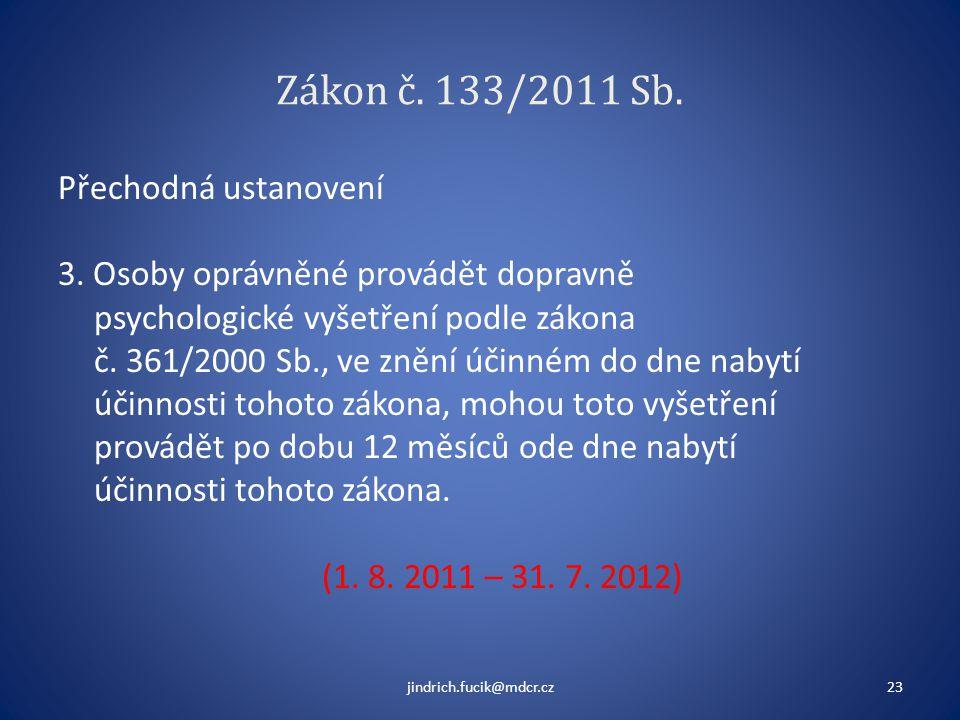 Zákon č. 133/2011 Sb.